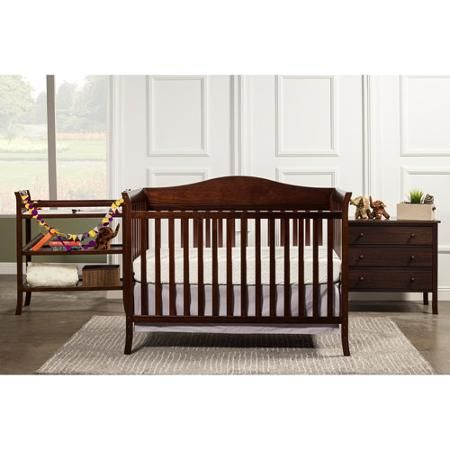 Baby Mod Bella 4 In 1 Fixed Side Crib Changing Table And Clothing Organizer Espresso
