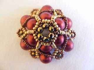 "nice beaded bead - different technique from ""lotus blossom""."