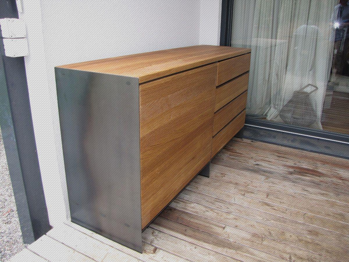 Design Stahlmobel In Rohstahloptik Mit Massivholz Holz Stahl Stahl Holz