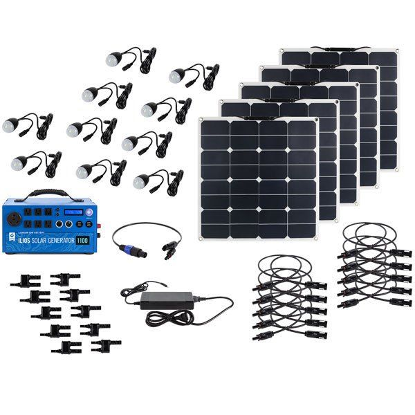1100 Watt Hour Solar Generator 1 1 Kwh Lithium Ion Technology Power Bank 10 Led Lig With Images Solar Generator Solar Panel Installation Solar Installation