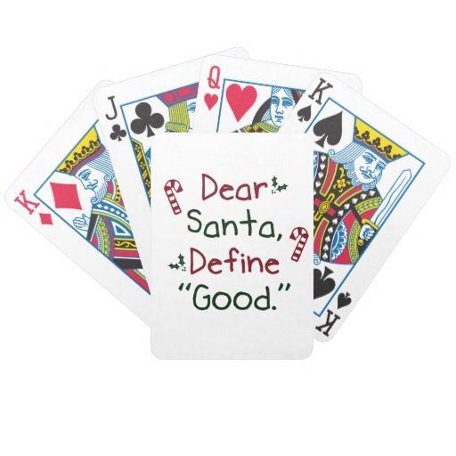 Dear Santa Define Good Card Decks