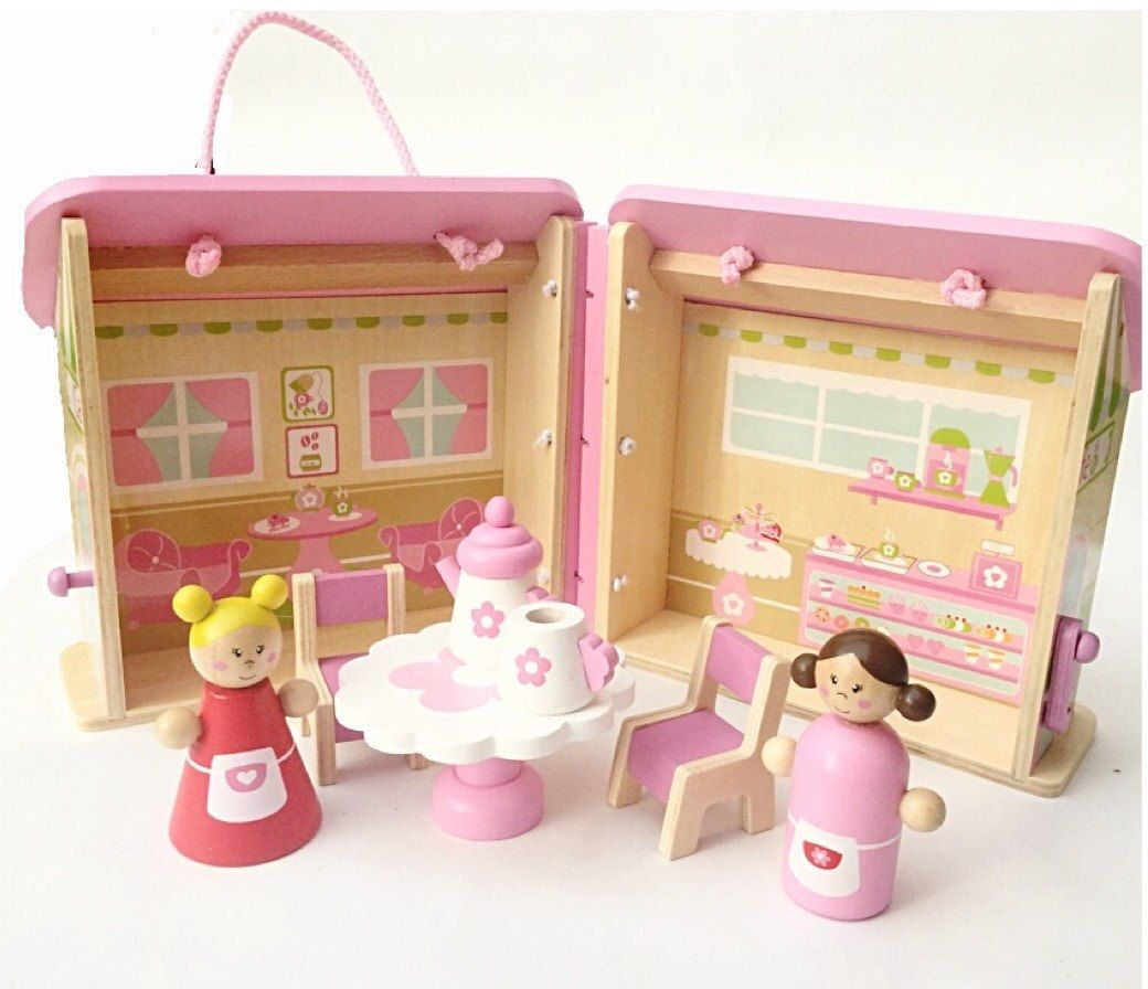 Girls First Birthday Gift Personalised Dolls House 1st Unique Birthdays