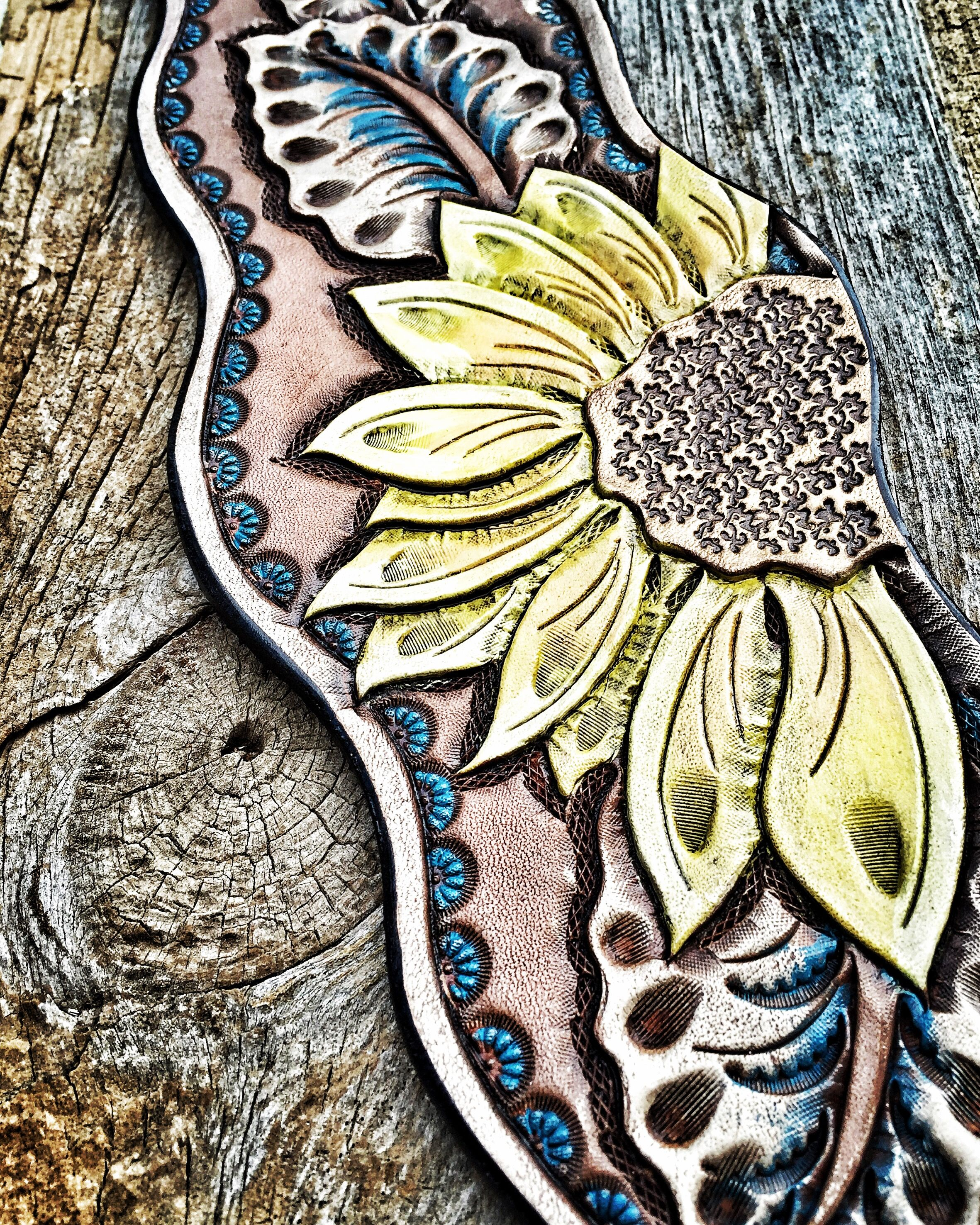 Sunflower bronc halter noseband hand tooled by artevae artevae sunflower bronc halter noseband hand tooled by artevae maxwellsz