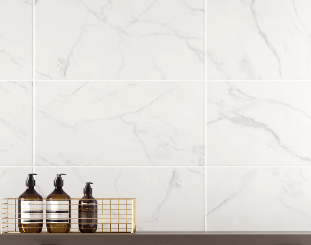 Hd Laurel White Matt Marble Is A 248mm X 498mm Rectangle Matt Finish Ceramic Wall Tile Made By Britis Marble Wall Tiles White Tile Texture Bathroom Wall Tile