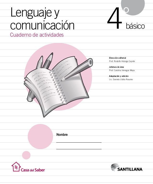 05efb806d0 Cuaderno Actividades Lenguaje 4º | Escuela | Lenguaje, Lenguaje ...