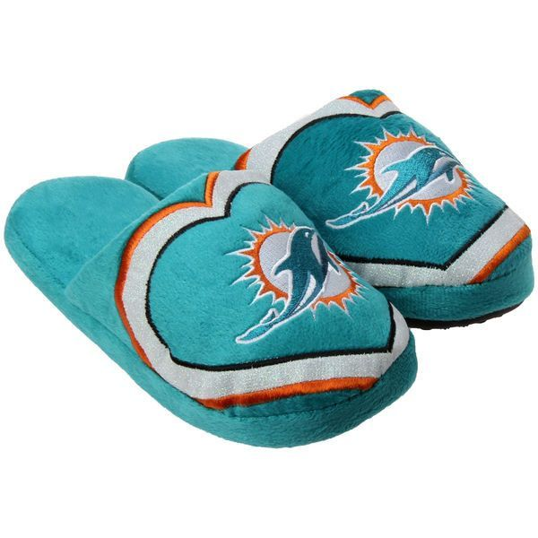 Women's Miami Dolphins NFL Love Glitter Slippers
