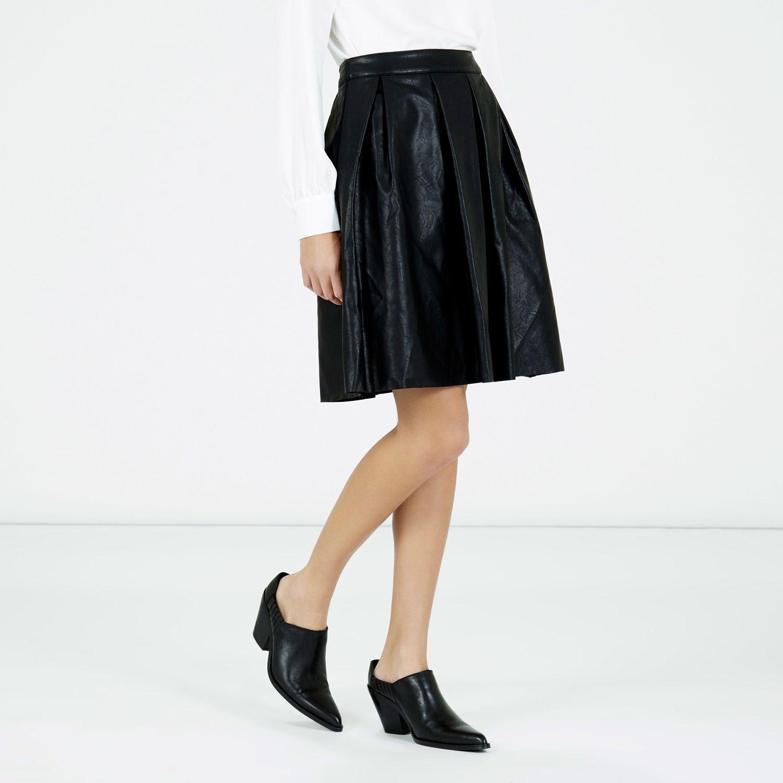 1db0bbee750ff8 Warehouse Green Faux Leather Skirt | Saddha