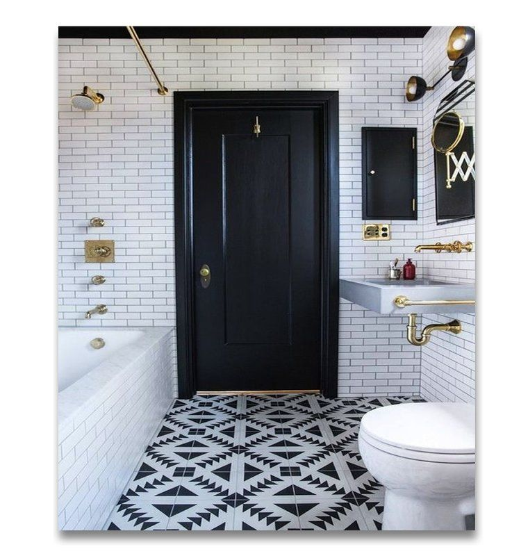 Tadla Handmade 8 X 8 Cement Field Tile Salle De Bain Noir Et