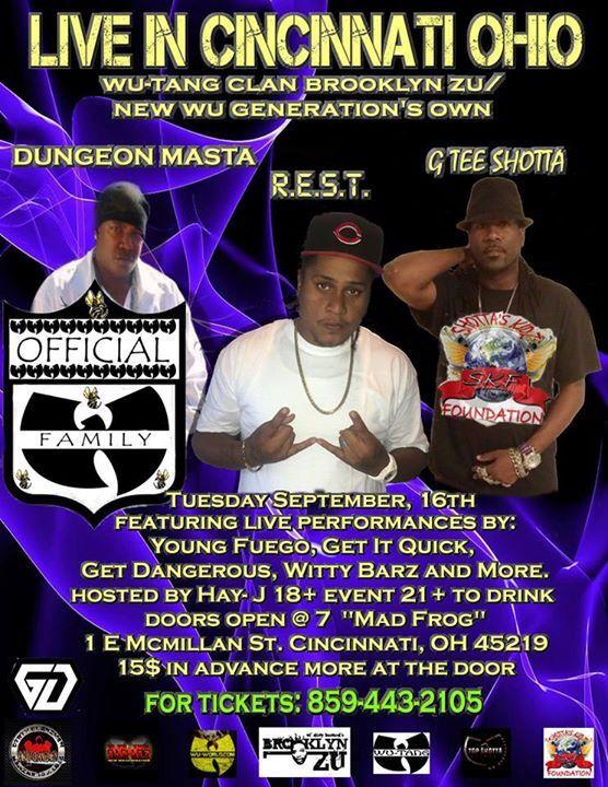 Sept. 16 Live Performance Cincinnati Ohio