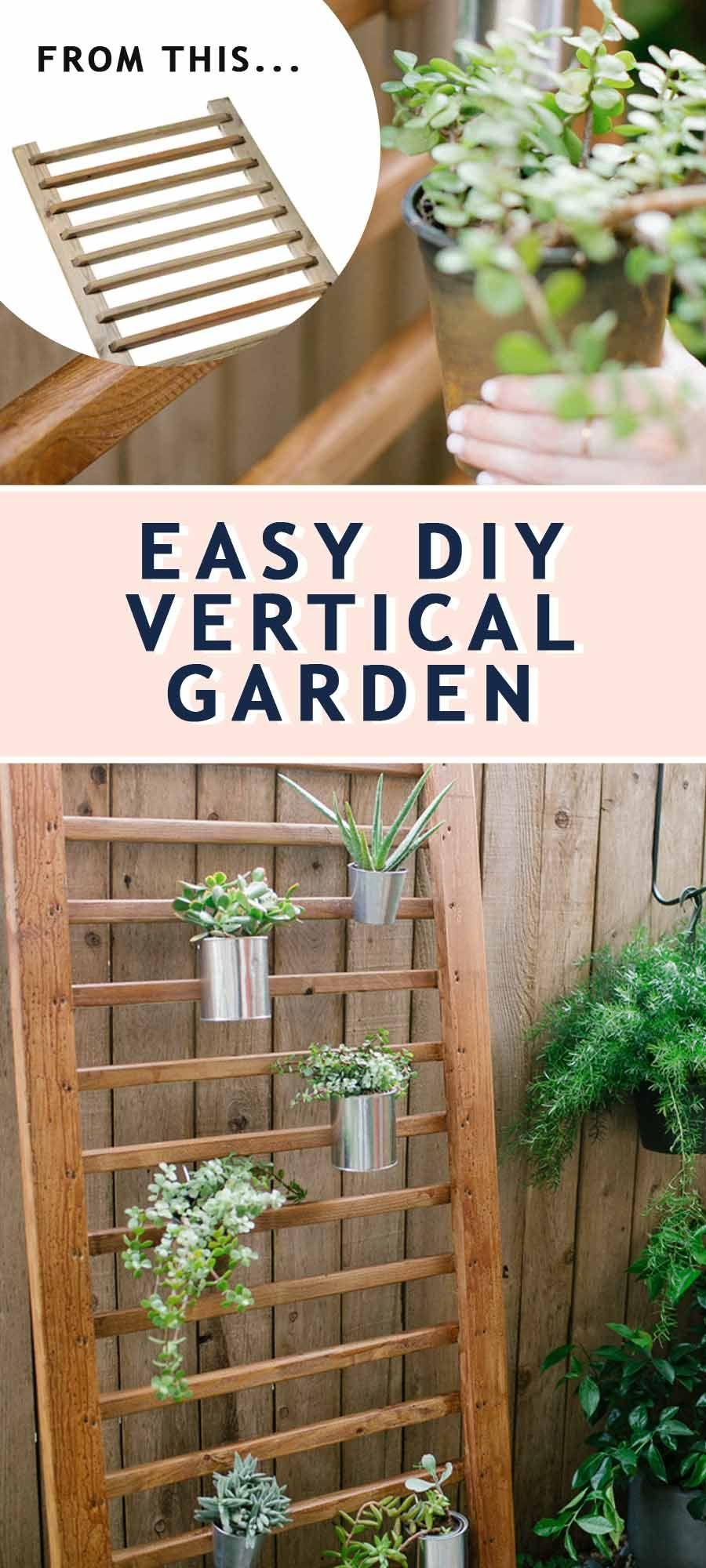 diy vertical garden an easy succulent wall planter on indoor vertical garden wall diy id=12425