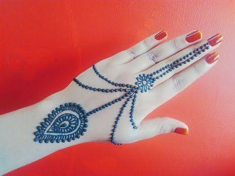 Flower Stickers Mehndi : Bow henna design simple beautiful ribbon and flowers mehendi