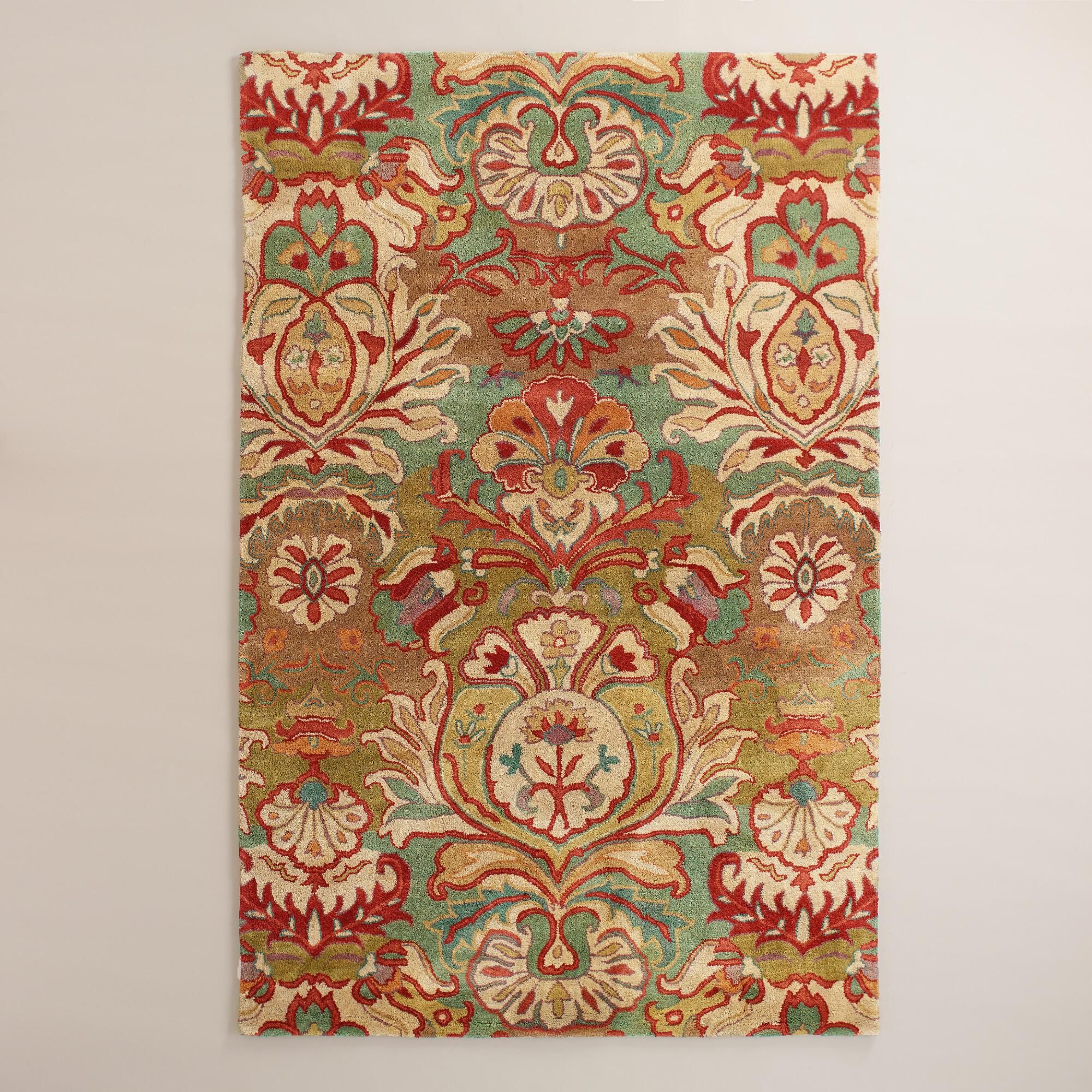 Hand Tufted In India Of 100 Wool Pile This High Quality Rug Features A Fl Medallion Motif Designed Exclusively For World Market