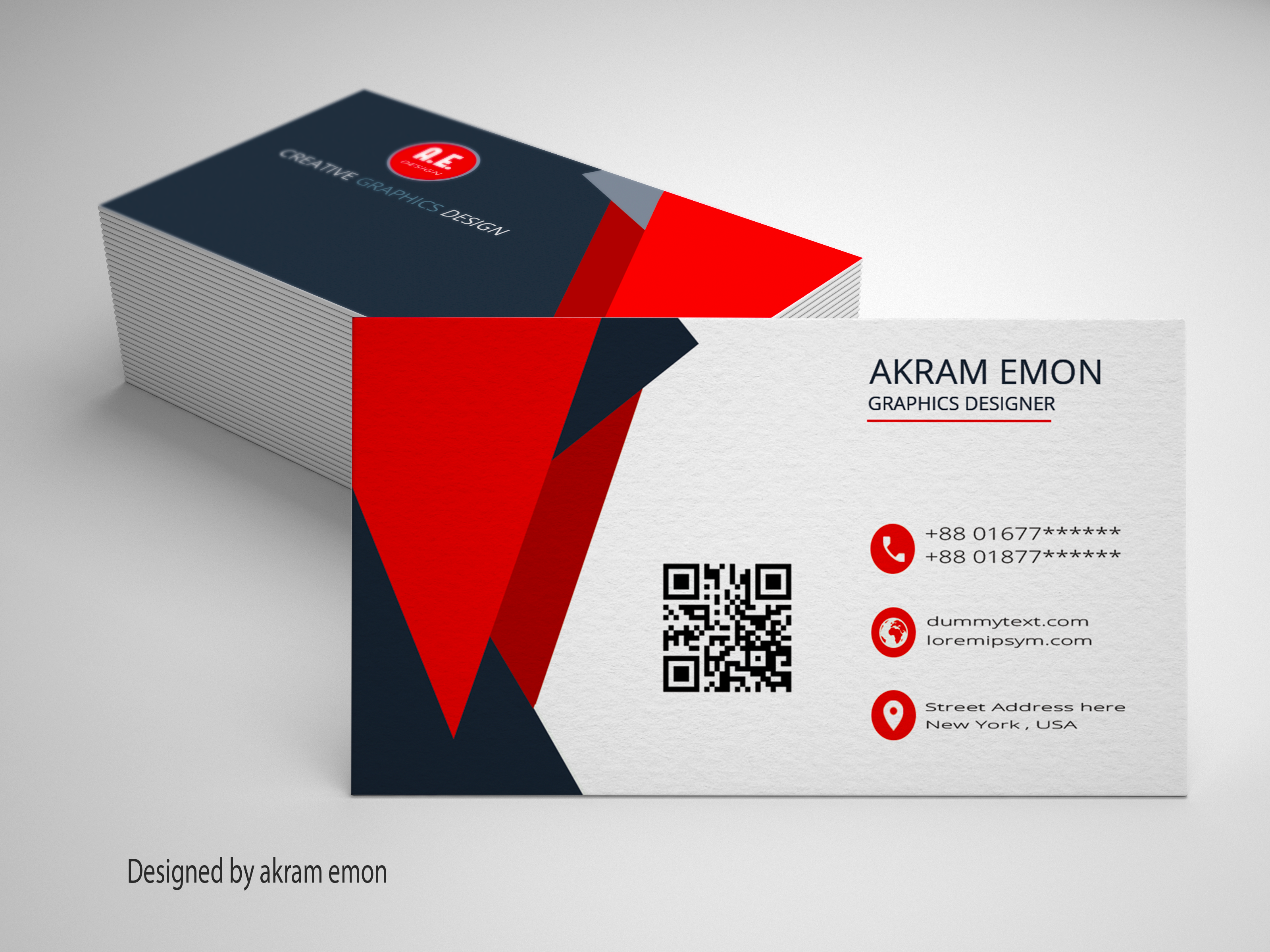 Personal Business Card Design At Fiverr Akramemon58 Personal Business Cards Professional Business Cards Cards