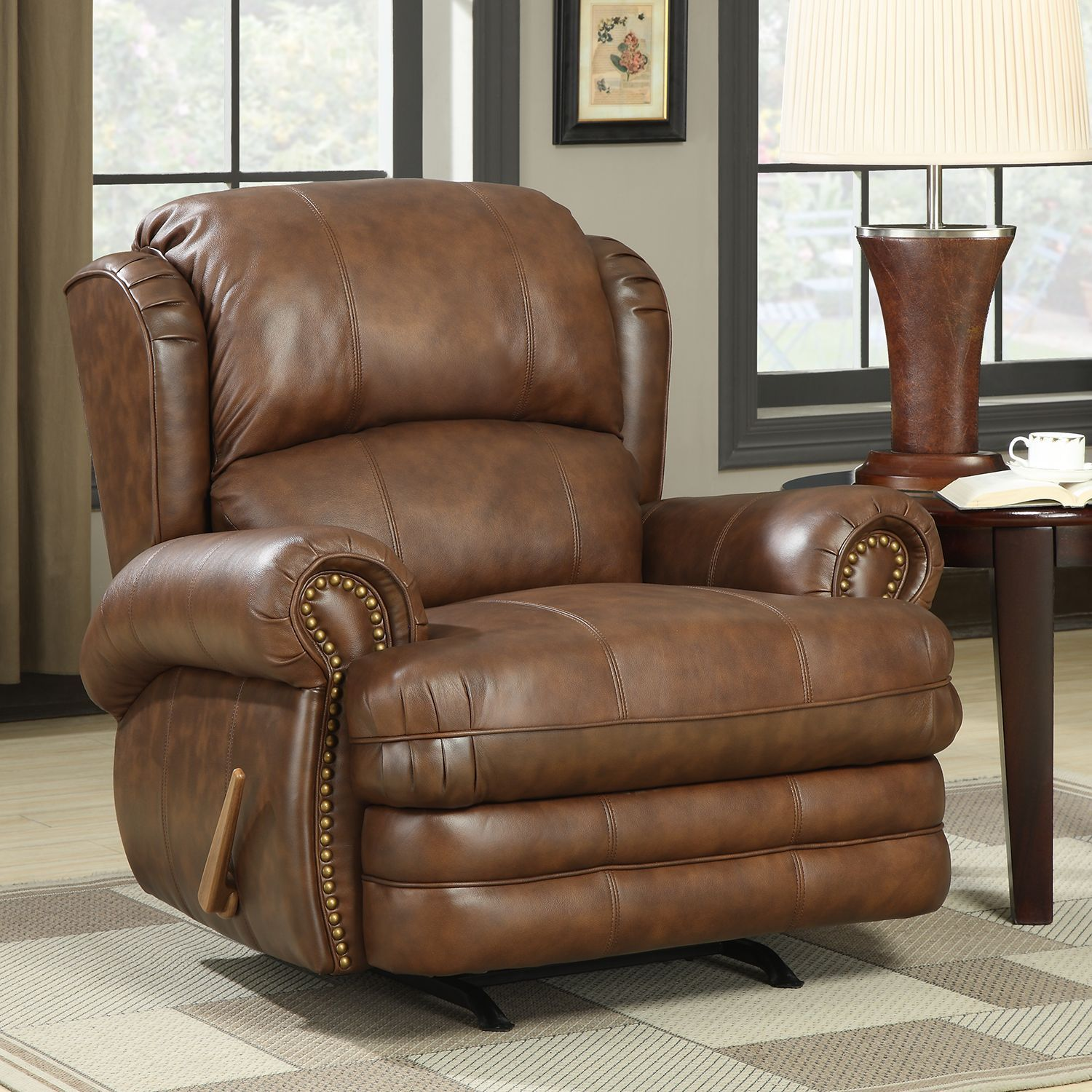 Lane Dudley Leather Rocker Recliner Sam S Club