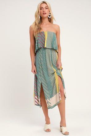 Lulus | Lost in Paradise Olive Green Maxi Dress | Size Medium | 100% Polyester #sagegreendress
