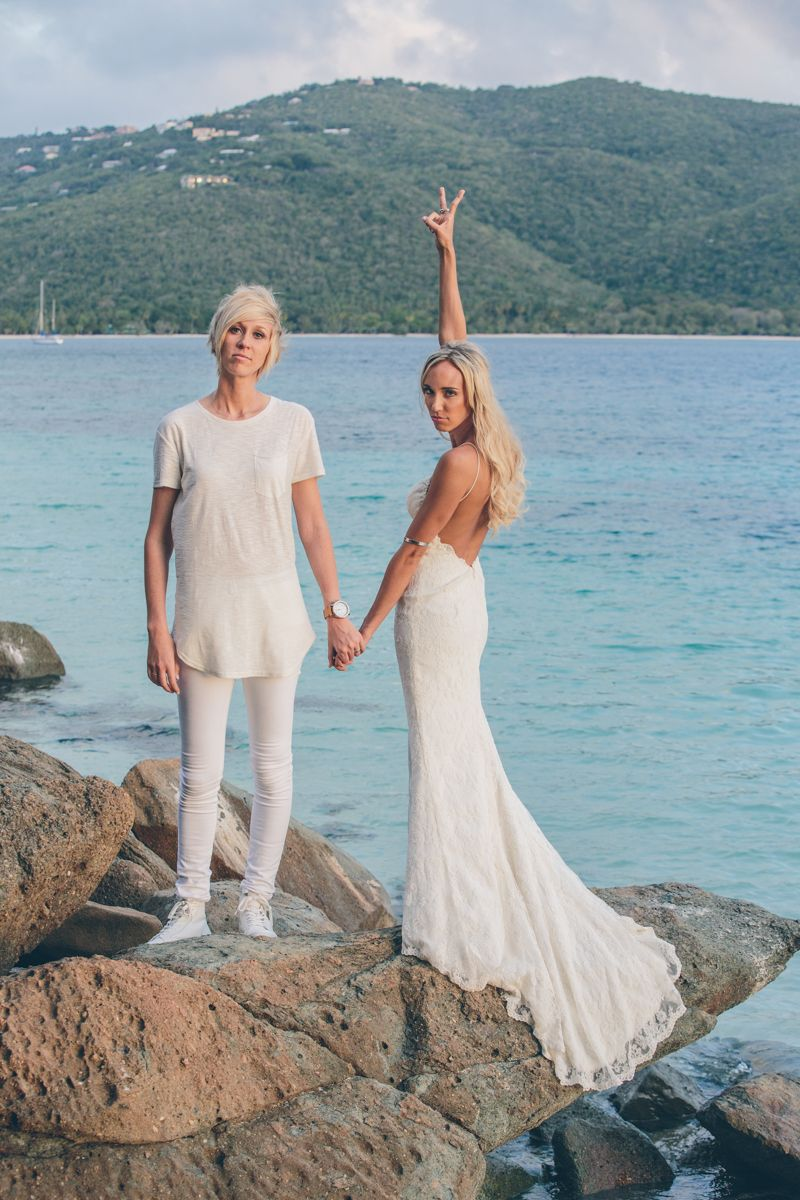 CASSIE AND KAYLA VIRGIN ISLANDS LESBIAN WEDDING | My (Lesbian ...