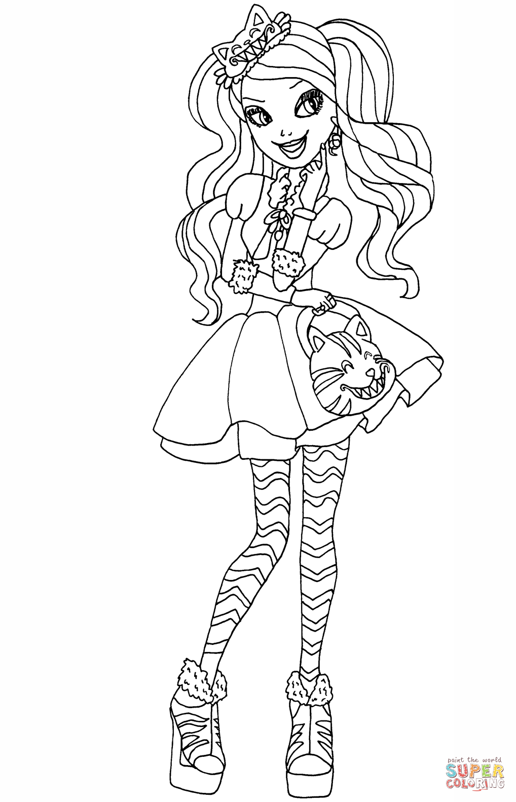 Monster High Clawdeen Ausmalbilder : Resultado De Imagem Para Ever After High Ginger Para Colorir Todas