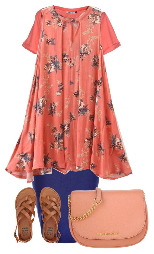 """""""Untitled #18"""" by miagrace7 ❤ liked on Polyvore featuring City Chic, ONLY, Billabong and MICHAEL Michael Kors"""