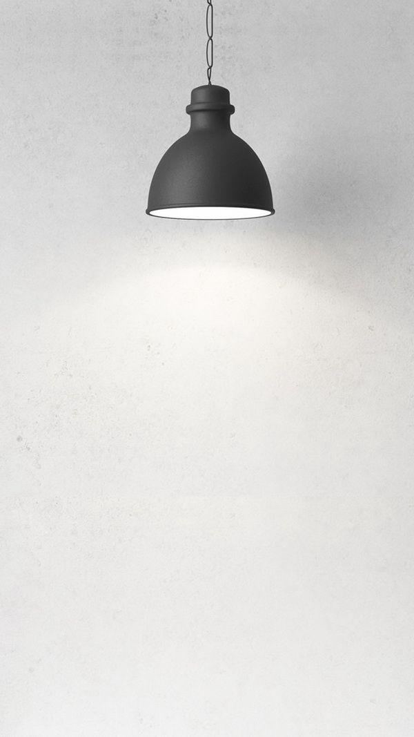 Lamp sketch   Minimalist wallpaper, White wallpaper ...