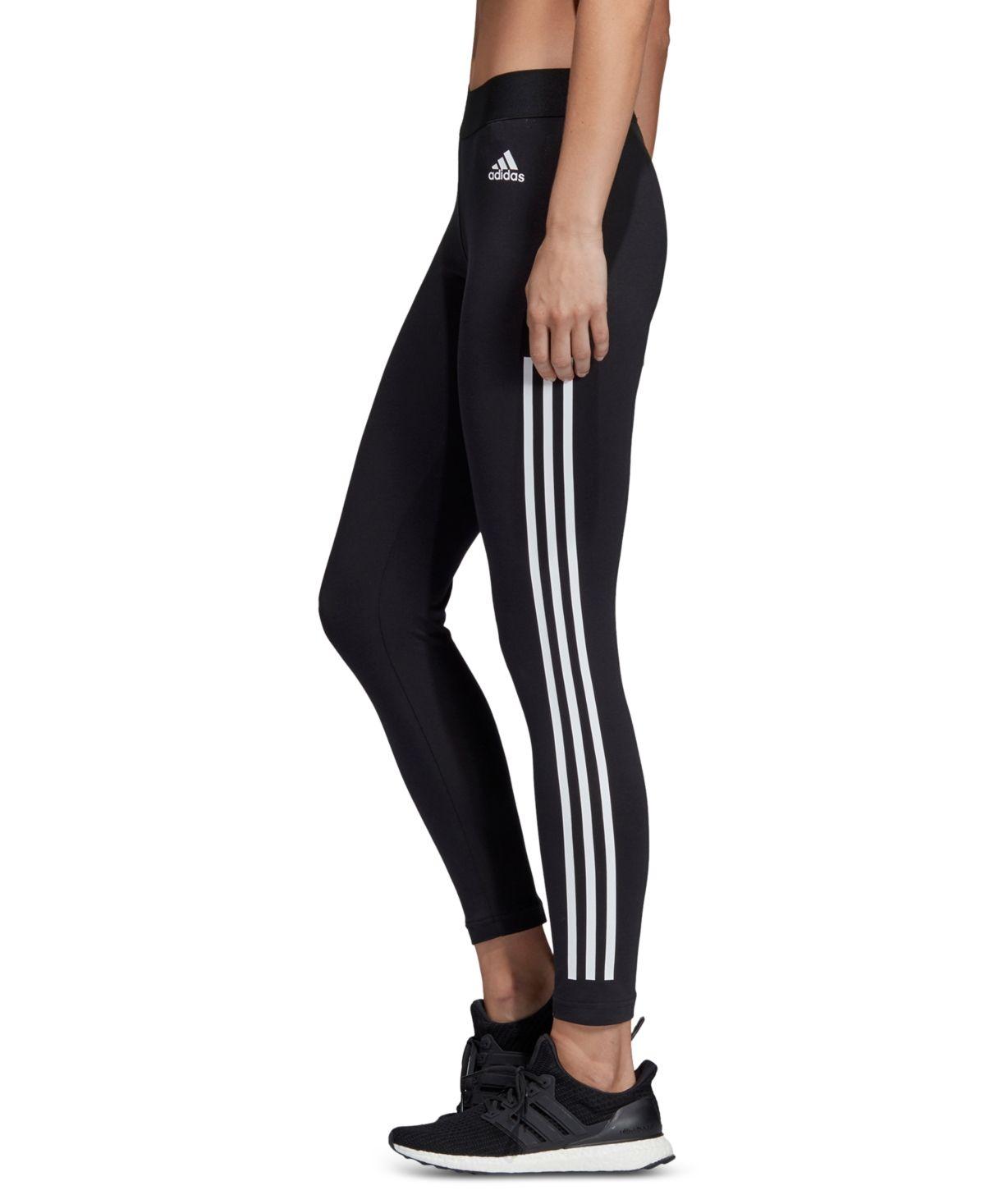 adidas Women's Must Have 3-Stripe Leggings & Reviews - Women - Macy's #stripedleggings