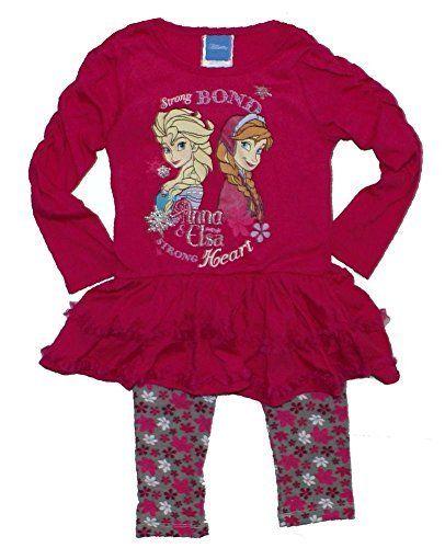 433176de9cc91 Disney's Frozen Princess Elsa Anna Tutu and Leggings T-shirt Set ...