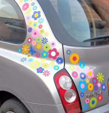 Car stickers decals transfers mixed flower bed car stickers 2 sheets car decals pinterest car stickers cars and motor car