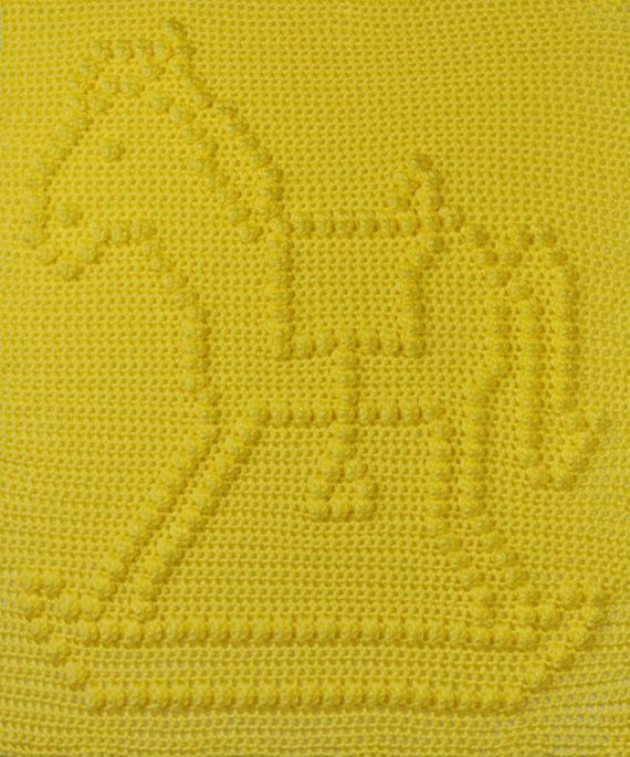 Rocking Horse Baby Blanket Pattern - Wall Hanging - Baby Snuggle ...