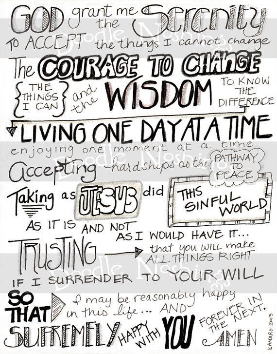 Serenity Prayer    8x10 by DoodleNoshings on Etsy 60ce1a05c293b