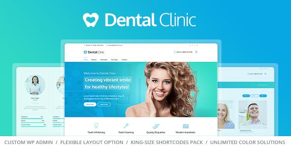 Medical  Dentist WordPress Theme - Dental Clinic Wordpress