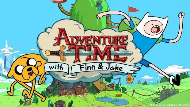 adventure time game logo title