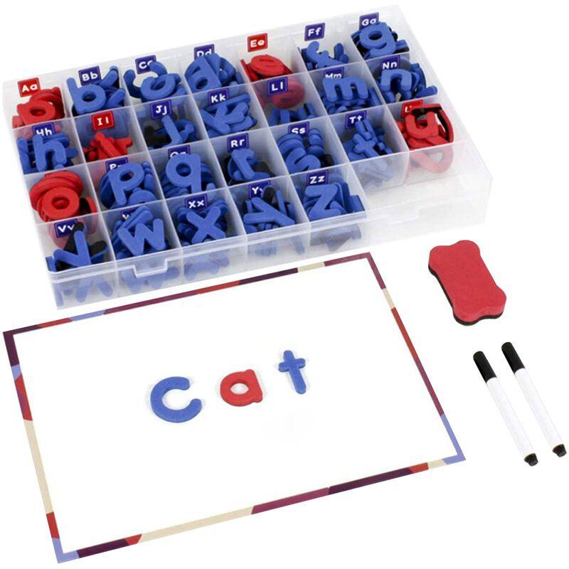 Happyshopping - Kit de lettres magnetiques alphabet aimants jouet 238 pieces ABC mousse grand tableau magnetique double face stylo tableau gomme et