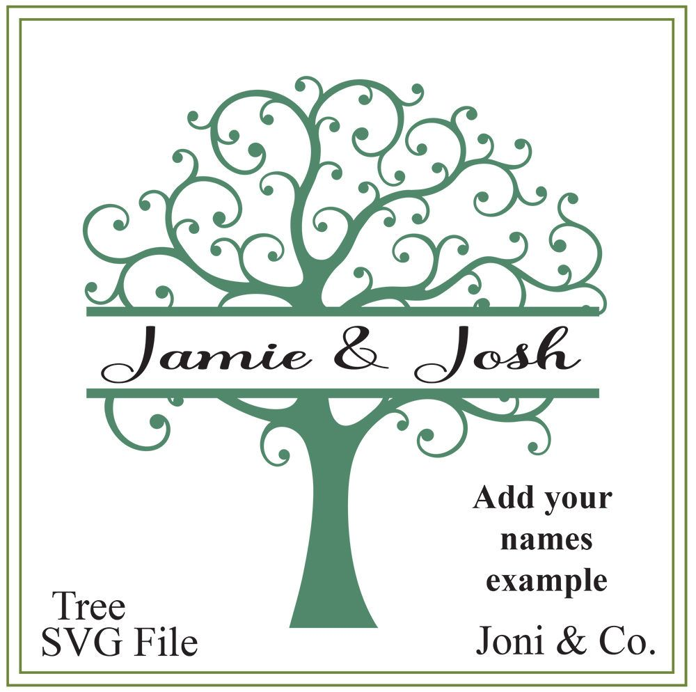 Tree svg tree of life svg split tree svg nature svg family tree svg tree of life svg split tree svg nature svg family tree svg tree illustration greeting cards signs iron on tree printable add your names to kristyandbryce Gallery