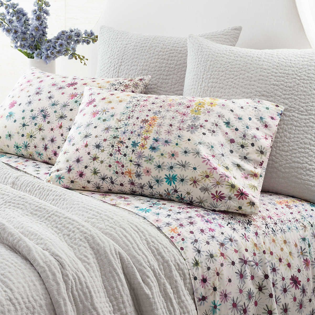 Wallflower Sheet Set Pine Cone Hill Grey bedding