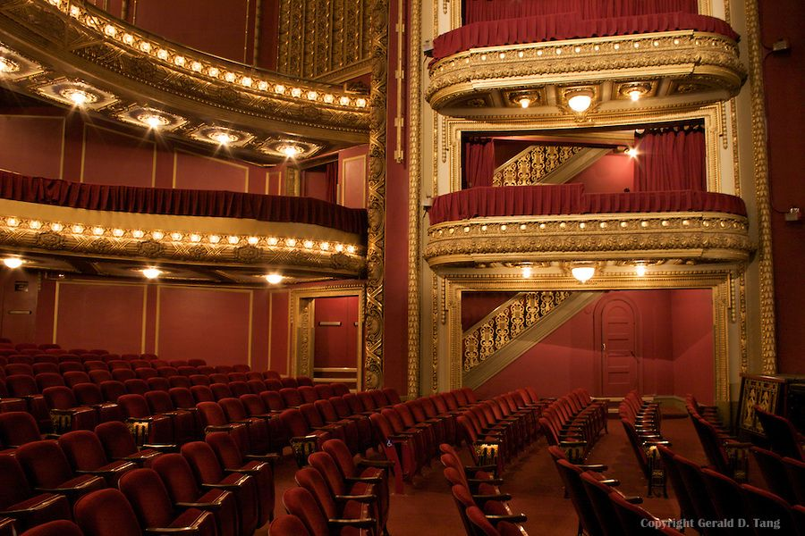 lasalle bank theatre balcony and boxes in chicago illinois