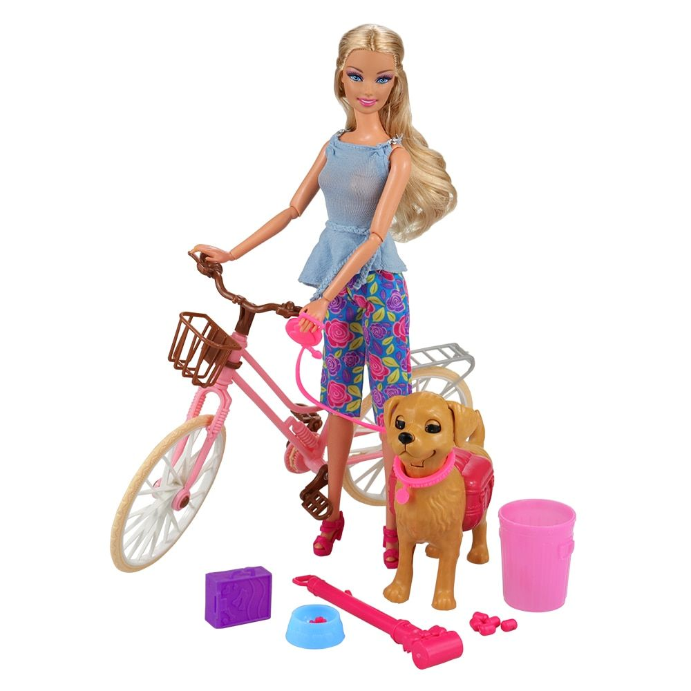 Interactive Dog Toys Exercise Interactive Dog Toys Doll China Accessories Birthday Party Princess Gift Present For Girls Mini Doll House Furniture Bike