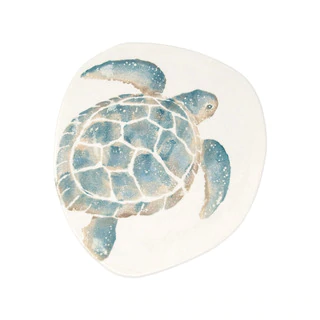 Vietri Tartaruga Dinner Platetar 970011 5 Dmaestro Artisan Gianluca Fabbro Uses A Unique Sponging Technique O In 2020 Baby Sea Turtles Sea Turtle Art Turtle Painting