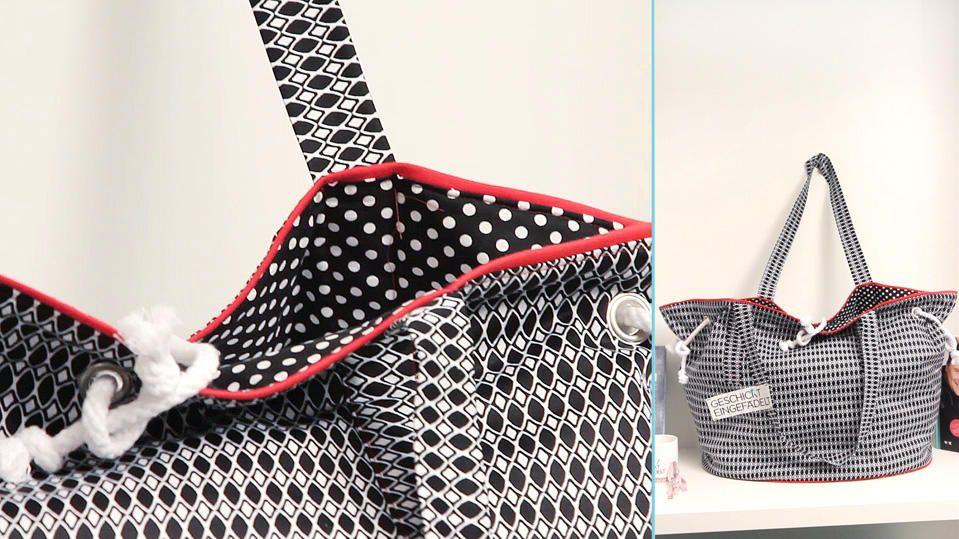 Diese Tasche kannst Du mit unserem Schnittmuster leicht zu Hause ...