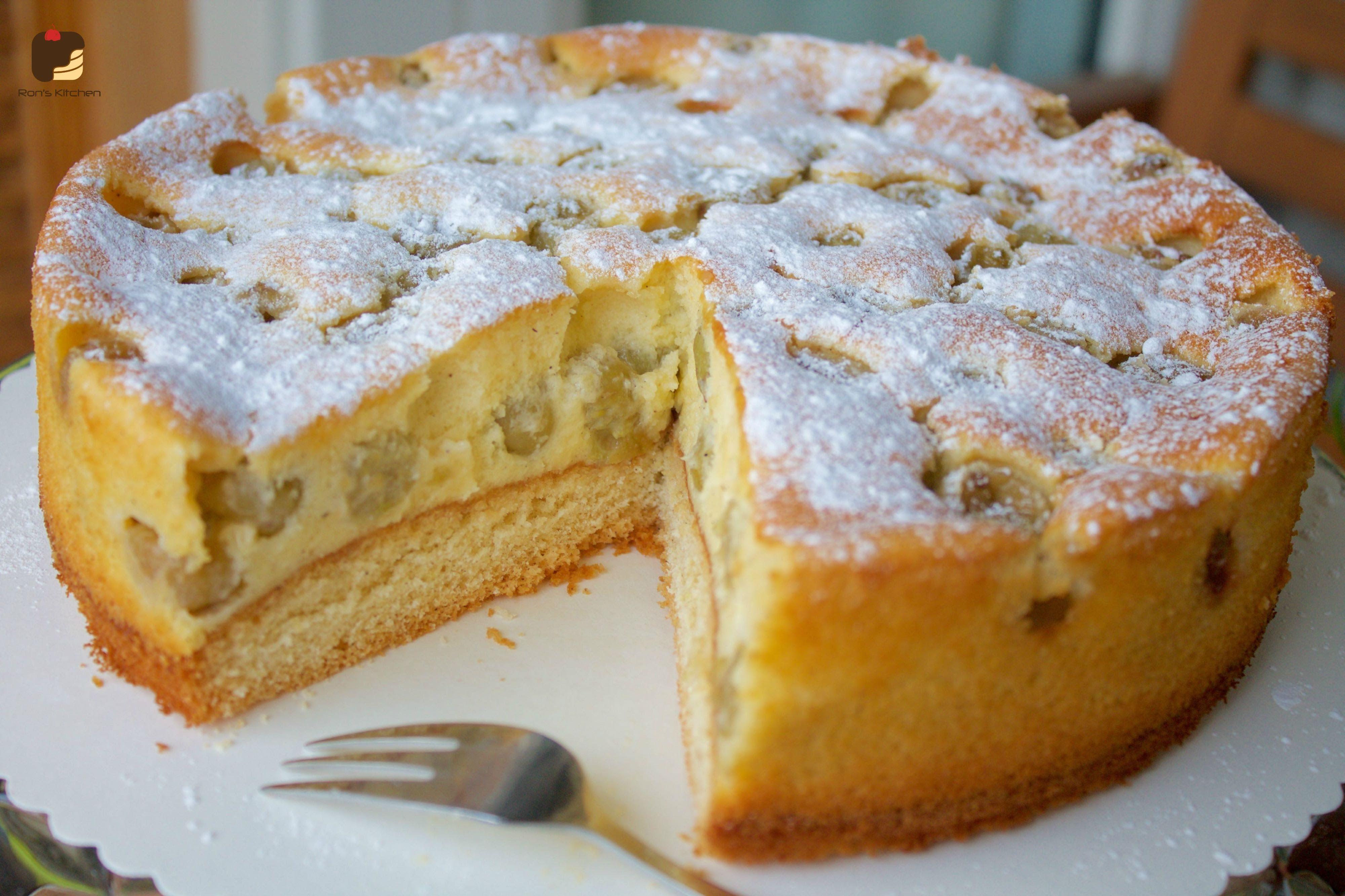 Stachelbeeren Schmand Kuchen Fruchtig Sauerlich Lecker