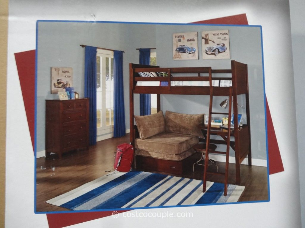 Bunk bed with desk and sofa bed - Universal Furniture Bryson Twin Bunk Bed Costco