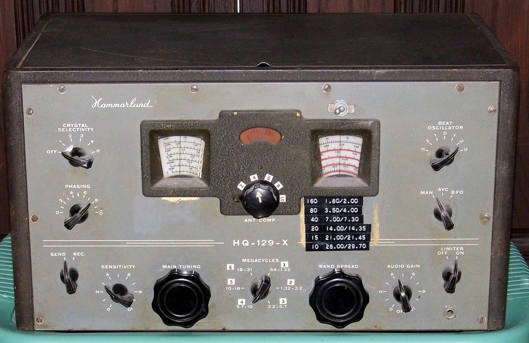 Vintage Hammarlund Communications Receiver Model Hq 129 X