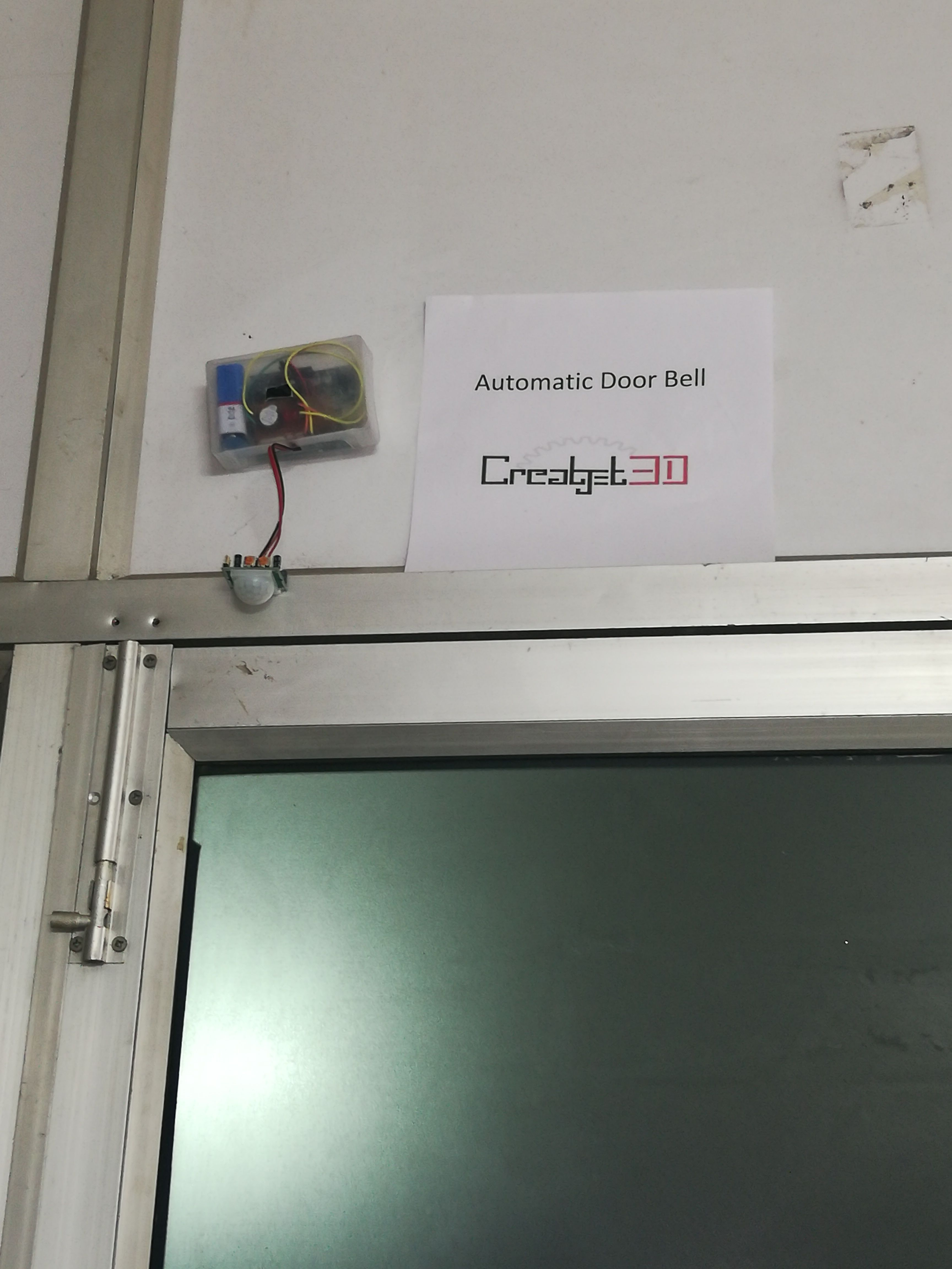 An Automatic Door Bell Is A Simple Project Based On Pir Sensor And Arduino Which Automatically On The Buzzer Automatic Door Robotics Projects Easy Projects