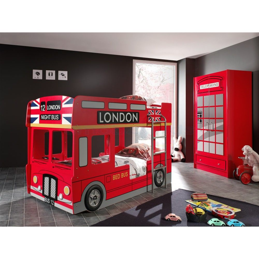 Kinderbett junge bus  Etagenbett London Bus rot: http://www.emob4kids.de/kinderbetten ...