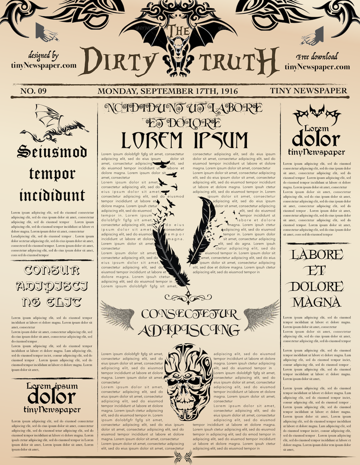 Newspaper Front Page Template Newspaper Theme How To Make A