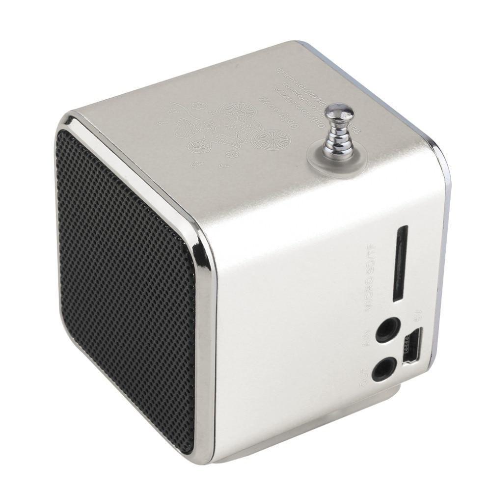 Portable Aluminum Alloy TD V26 Mini Speaker Portable Digital LCD Sound Micro SD/TF FM Radio Music Stereo Loudspeaker for Laptop - Intl Warehouse / Red