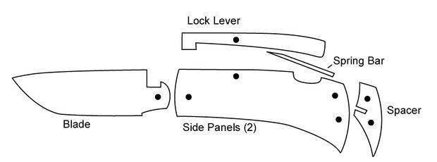 image regarding Printable Folding Knife Templates called Gustav (gcpelser) upon Pinterest