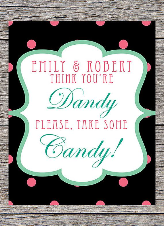 Printable Candy Buffet Sign Candy Buffets Pinterest Candy