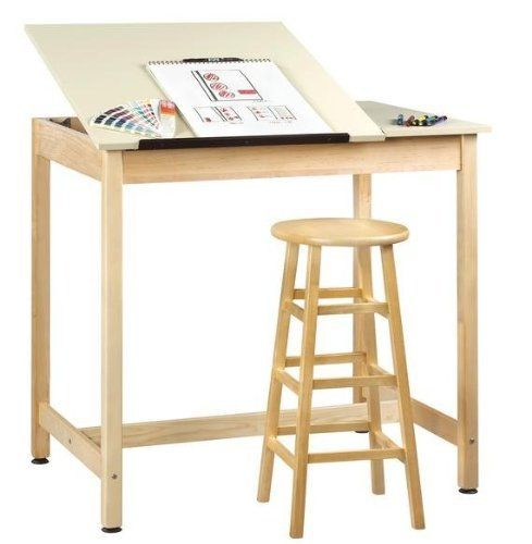 Diversified Woodcraft Dt 60sa Drafting Table 2 Piece Adjustable By Diversified Woodcraft 986 85 Sh Wood Drafting Table Woodworking Desk Plans Drawing Table