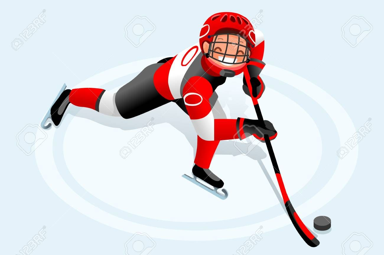 Ice Hockey Vector Cartoon Clipart Winter Sports Background With Hockey Athlete Playing Winter Olympics Competitio Boys Posters Cartoon Boy People Illustration