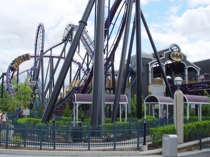 Batman The Dark Night At Six Flags New England Roller Coaster