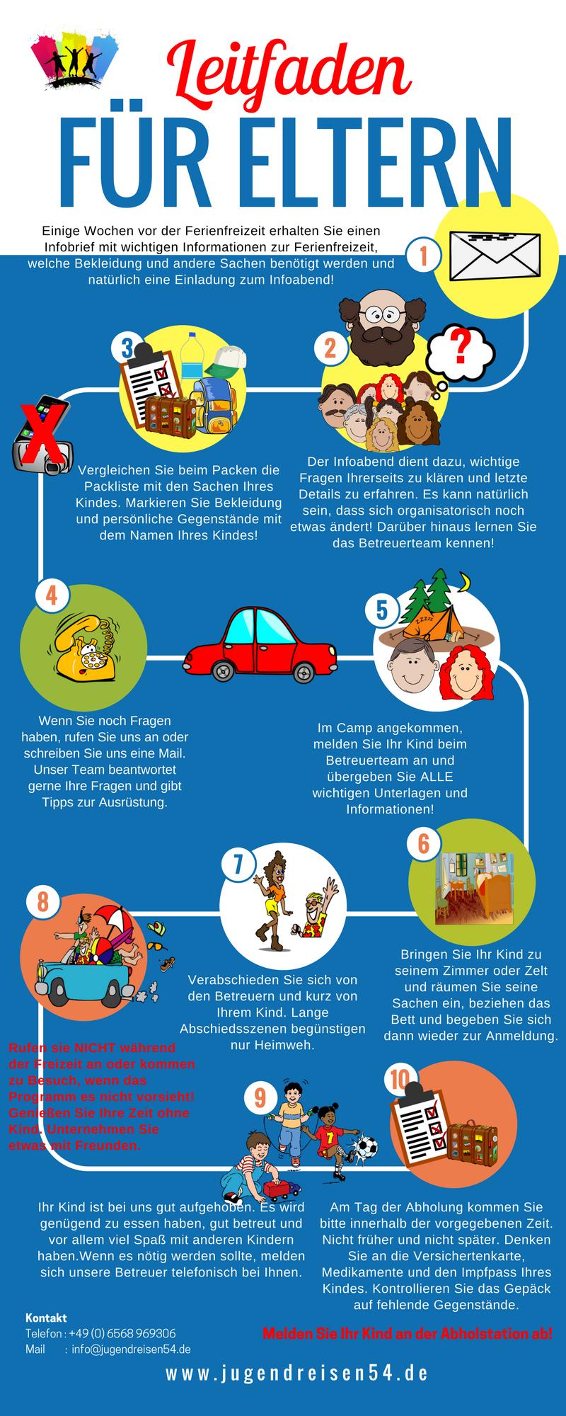KiLaFerien #Checkliste für #Eltern #Ferienfreizeit #Ferienlager ...